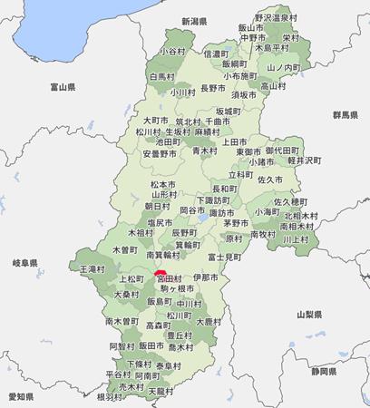 宮田村の地図