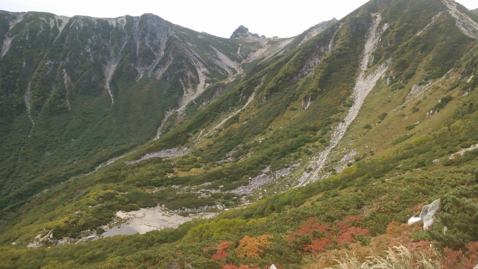 西駒ヶ岳 紅葉が進む