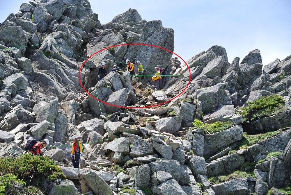 【中央アルプス駒ケ岳】宝剣岳崩落箇所にご注意ください!